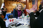 Heidi Cruz talks with a supporter during a campaign party for her husband Republican presidential candidate Sen. Ted Cruz, R-Texas, in Andover, MA, Friday, Jan. 8, 2016.  CREDIT: Cheryl Senter for The New York Times