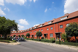 Modernist housing at Grosssiedlung Britz - Hufeisensiedlung UNESCO site  Berlin, Germany