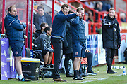 Exeter City manager Matt Taylor during the EFL Sky Bet League 2 match between Exeter City and Forest Green Rovers at St James' Park, Exeter, England on 27 October 2018.