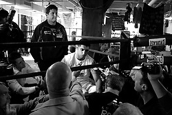 May 11, 2010; New York, NY; USA; Amir Khan works out at the Trinity Boxing Club in New York City.  Khan will face Paulie Malignaggi this Saturday, May 15th at the Theatre at Madison Square Garden.