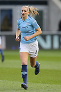Manchester City Women's midfielder Gemma Bonner (4) during the FA Women's Super League match between Manchester City Women and Brighton and Hove Albion Women at the Sport City Academy Stadium, Manchester, United Kingdom on 27 January 2019.