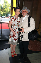 DAISY DE VILLENEUVE and BARRY LATEGAN at a party at the V&A museum, Cromwell Road, London for three exhibitions - Sixties Fashion, Sixties Graphics and Che Guevara:Revolutionary and icon held on 5th June 2006.<br /><br />NON EXCLUSIVE - WORLD RIGHTS