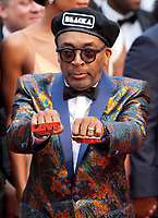 Director Spike Lee at the Blackkklansman (Black Klansman) gala screening at the 71st Cannes Film Festival, Monday 14th May 2018, Cannes, France. Photo credit: Doreen Kennedy
