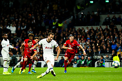 Harry Kane of Tottenham Hotspur scores a goal from the penalty spot - Rogan/JMP - 01/10/2019 - FOOTBALL - Tottenham Hotspur Stadium - London, England - Tottenham Hotspur v Bayern Munich - UEFA Champions League Group B.