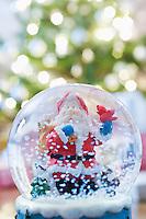 Snow dome with Santa