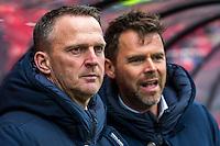 ALKMAAR - 26-02-2017, AZ - PEC Zwolle, AFAS Stadion, 1-1, AZ trainer John van den Brom, Assistent trainer Dennis Haar