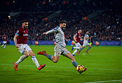 LONDON, ENGLAND - Monday, February 4, 2019: Liverpool's Adam Lallana during the FA Premier League match between West Ham United FC and Liverpool FC at the London Stadium. (Pic by David Rawcliffe/Propaganda)