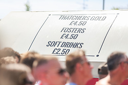 Drinks price list outside as England play against Panama - Ryan Hiscott/JMP - 24/06/18 - Ashton Gate - Bristol, England - Fans Visit the World Cup Village at Ashton Gate for the England v Panama Group Match, Ashton Gate