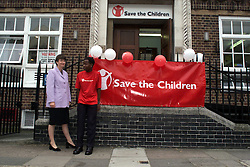 Save the children volunteers celebrate national volunteers week with Harriet Harman (in lilac suit) 06/06/2000.Photo by Andrew Parsons/i-Images.All Rights Reserved ©Andrew Parsons/i-images.See Instructions.