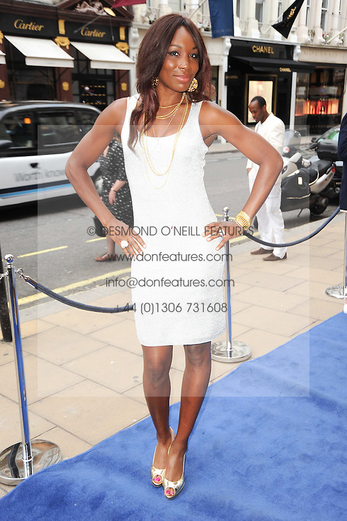 VENUS WILLIAMS at the Ralph Lauren Wimbledon Party held at Ralph Lauren, 1 New Bond Street, London on 17th June 2010.