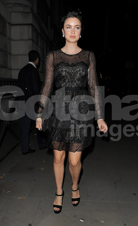 Emma Miller attends Marchesa SS 2015 catwalk show during London Fashion Week Spring Summer 2015 in London, UK. 13/09/2014 <br />BYLINE MUST READ : GOTCHAIMAGES.COM<br /><br />Copyright by &copy; Gotcha Images Ltd. All rights reserved.<br />Usage of this image is conditional upon the acceptance <br />of Gotcha Images Ltd, terms and conditions available at<br />www.gotchaimages.com