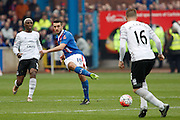 Carlisle United Midfielder Bastien Henry played the through ball during the The FA Cup fourth round match between Carlisle United and Everton at Brunton Park, Carlisle, England on 31 January 2016. Photo by Craig McAllister.