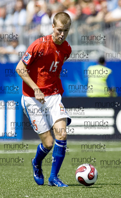 22 July 2007 (Toronto--Canada) -- The FIFA U-20 World Cup final. The game was played in Toronto and say Argentina defeat the Czech Republic by a score of 2-1...Marek STRESTIK of the Czech Republic...Photo credit Sean Burges/Mundo Sport Images..