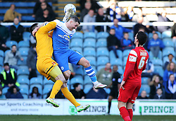 Peterborough United's Connor Washington challenges Leyton Orient's Alex Ciask - Photo mandatory by-line: Joe Dent/JMP - Mobile: 07966 386802 - 07/03/2015 - SPORT - Football - Peterborough - ABAX Stadium - Peterborough United v Leyton Orient - Sky Bet League One