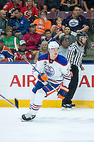 PENTICTON, CANADA - SEPTEMBER 16: Jesse Puljujarvi #39 of Edmonton Oilers skates against the Edmonton Oilers on September 16, 2016 at the South Okanagan Event Centre in Penticton, British Columbia, Canada.  (Photo by Marissa Baecker/Shoot the Breeze)  *** Local Caption *** Jesse Puljujarvi;