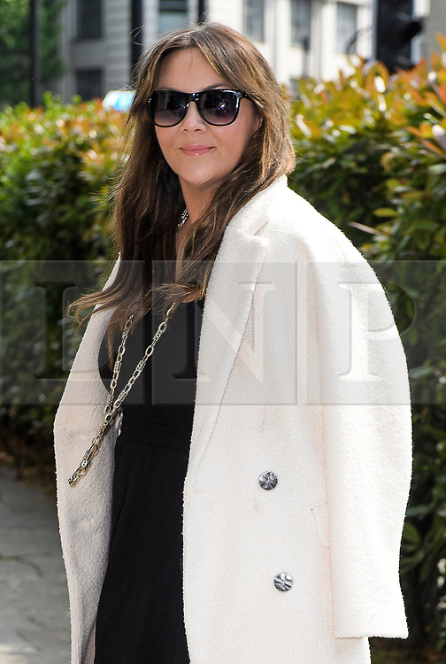 © Licensed to London News Pictures. 22/05/2018. London, UK. MARTINE MCCUTCHEON attends the funeral of television presenter Dale Winton at Commonwealth Church in Marylebone, London. Dale Winton, who was found dead at his home on April 18, was famous for presenting Supermarket Sweep and National Lottery game show. Photo credit: Ben Cawthra/LNP