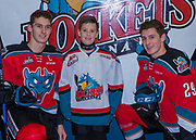 KELOWNA, CANADA - NOVEMBER 10:  Pepsi Player of the Game with Cal Foote #25 of the Kelowna Rockets and Nolan Foote #29 of the Kelowna Rockets at the Kelowna Rockets game on November 10, 2017 at Prospera Place in Kelowna, British Columbia, Canada.  (Photo By Cindy Rogers/Nyasa Photography,  *** Local Caption ***