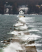 I am lucky enough to work a mere 5 minutes away from the Rockland Breakwater. When I saw the coastal flood advisories going up, I knew I wanted to check it out at high tide. Wouldn't you know, it landed right in the middle of my lunch break?