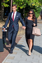 © Licensed to London News Pictures. 21/08/2019. London, UK.<br /> Danish professional golfer Thorbjorn Olesen arrives at Isleworth Crown Court in London to attend a plea and trial preparation hearing. Olesen has been charged with sexual assault, assault by beating and is also accused of being drunk on an aircraft. Olesen has been suspended from the European Golf Tour until the conclusion of the trial. Photo credit: Peter Manning/LNP
