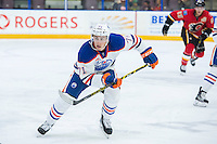 PENTICTON, CANADA - SEPTEMBER 17: Kyle Platzer #71 of Edmonton Oilers skates against the Calgary Flames on September 17, 2016 at the South Okanagan Event Centre in Penticton, British Columbia, Canada.  (Photo by Marissa Baecker/Shoot the Breeze)  *** Local Caption *** Kyle Platzer;