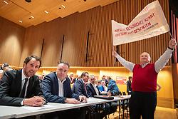 02.03.2019, Haus der Musik, Innsbruck, AUT, SPÖ Tirol, Parteitag Tiroler SPÖ mit Wahl des Obmannes, im Bild v.l. designierte Parteivorsitzende der Tiroler SPÖ, Georg Dornauer, LH Hans Peter Doskozil // during a Party Congress of the Tyrolean SPÖ with election of the chairman at the Haus der Musik in Innsbruck, Austria on 2019/03/02. EXPA Pictures © 2019, PhotoCredit: EXPA/ Johann Groder