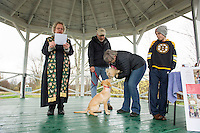 Blessing of the animals at Sanbornton Congregational Church.    Karen Bobotas for the Laconia Daily Sun