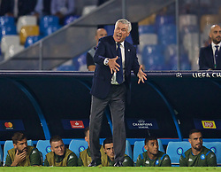 NAPLES, ITALY - Tuesday, September 17, 2019: SSC Napoli's head coach Carlo Ancelotti during the UEFA Champions League Group E match between SSC Napoli and Liverpool FC at the Studio San Paolo. (Pic by David Rawcliffe/Propaganda)