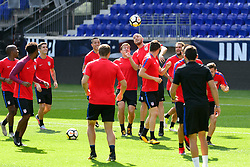August 31, 2017 - Harrison, New Jersey, United States - Harrison, NJ - Thursday Aug. 31, 2017: USMNT during a training day prior to a FIFA World Cup Qualifier between the United States (USA) and Costa Rica (CRC) at Red Bull Arena. (Credit Image: © Howard C. Smith/ISIPhotos via ZUMA Wire)