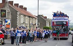 Bristol Rovers Bus tour through kingswood to the Memorial Stadium. - Photo mandatory by-line: Alex James/JMP - Mobile: 07966 386802 - 25/05/2015 - SPORT - Football - Bristol - Memorial Stadium -    Bristol Rovers Bus Tour