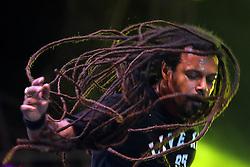 Falcão, vocalista do Rappa no palco principal do Planeta Atlântida 2013/RS, que acontece nos dias 15 e 16 de fevereiro na SABA, em Atlântida. FOTO: Emmanuel Denaui/Preview.com