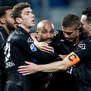 ZWOLLE, PEC Zwolle - Heracles Almelo, voetbal, Eredivisie, seizoen 2016-2017, 22-04-2017, Mac3Park Stadion, Heracles Almelo speler Samuel Armenteros (M) heeft de 0-1 gescoord