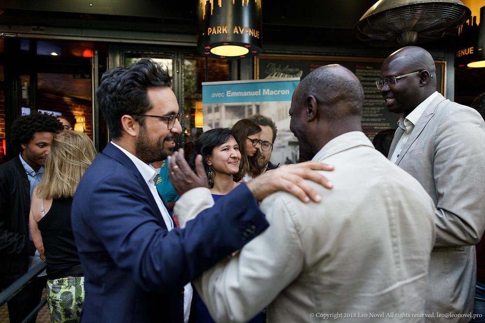 8  June  2017 &ndash; Paris, France<br /> Mounir Mahjoubi and Delphine O receive campaign members.