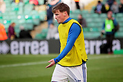 Ipswich Town midfielder Stephen Gleeson (25) warming up before the EFL Sky Bet Championship match between Norwich City and Ipswich Town at Carrow Road, Norwich, England on 18 February 2018. Picture by Nigel Cole.