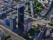 Nederland, Zuid-Holland, Den Haag, 14-09-2019; <br /> Haagse Toren, Rijswijkseplein, Pletterijkade.<br /> The Hague Tower, Rijswijkseplein<br /> <br /> luchtfoto (toeslag op standard tarieven);<br /> aerial photo (additional fee required);<br /> copyright foto/photo Siebe Swart