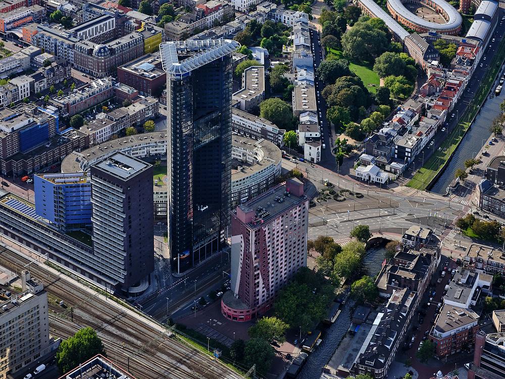 Nederland, Zuid-Holland, Den Haag, 14-09-2019; <br /> Haagse Toren, Rijswijkseplein, Pletterijkade.<br /> The Hague Tower, Rijswijkseplein<br /> <br /> luchtfoto (toeslag op standard tarieven);<br /> aerial photo (additional fee required);<br /> copyright foto/photo Siebe Swart