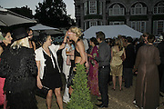 Sara Buys ( Sara Parker Bowles)  and Sophia Hesketh, Stephen Jones Summer Hat party to celebrate 25 years of Milllinery. Debenham House, 8 Addison Rd. Holland Park, London. 13 July 2006.  ONE TIME USE ONLY - DO NOT ARCHIVE  © Copyright Photograph by Dafydd Jones 66 Stockwell Park Rd. London SW9 0DA Tel 020 7733 0108 www.dafjones.com