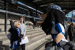Mascot high fives a fan - Photo mandatory by-line: Dougie Allward/JMP - Mobile: 07966 386802 - 31/03/2015 - SPORT - Football - Bristol - Memorial Stadium - Vanarama Football Conference - Bristol Rovers Open Training Session
