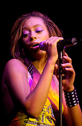 Solange Sister of Destiny's Child Star Beyonce appears as support for Kelly Rolland, also a member of Destenies Child  Live at Sheffield City Hall<br /> 20 Spetember 2003<br /> image copyright Paul David Drabble