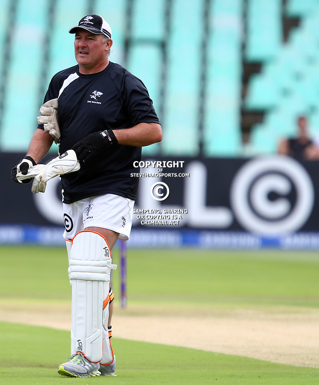Durban South Africa -  December 15, Gary Gold (Sharks Director of Rugby)  during Hollywood Bets Showdown At The Coast - Sunfoil Dolphins vs CellC Sharks Match at the Kingsmead.Sahara Stadium Kingsmead (Photo by Steve Haag)images for social media must have consent from Steve Haag