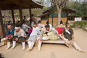 Korean Folk Village. TV movie set.