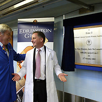 FREE TO USE PIC....<br />First Minister Jack McConnell who officially opened the new £3m bottling line at The Edrington Groups HQ in Glasgow..He is pictured after the official opening with Edrington Group Chairman Ian Good.<br />See press release from Edrington Group: Contact Sharon McLaughlin on 07879 694962<br />Copyright Perthshire Picture Agency<br />Tel: 01738 623350  Mobile: 07990 594431
