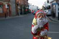 Chocolate Santa visiting Dalkey in Ireland
