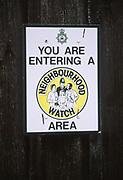 A3AAY1 Neighbourhood Watch area notice