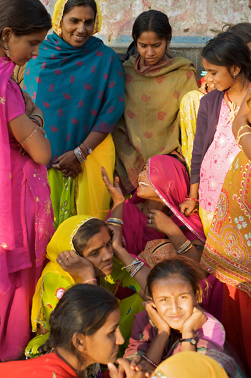 The Pushkar Camel Fair, the largest camel fair in the world, has been held on the full moon each October/November for centuries.  Thousands of camel traders come to one of India's most colorful events.