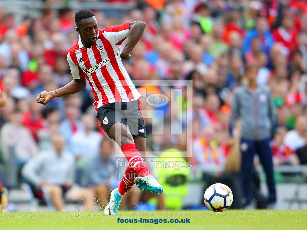 Inaki Williams of Athletic Bilbao during the Pre-season Friendly match at the Aviva Stadium, Dublin<br /> Picture by Yannis Halas/Focus Images Ltd +353 8725 82019<br /> 05/08/2017