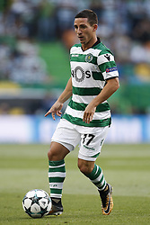 August 15, 2017 - Lisbon, Portugal - Sporting's forward Daniel Podence in action during Champions League 2017/18, first playoff round match between Sporting CP vs FC Steaua Bucuresti, in Lisbon, on August 15, 2017. (Credit Image: © Carlos Palma/NurPhoto via ZUMA Press)