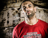 LONDON, ENGLAND, FEBRUARY 13, 2013: Che Mills poses for a portrait ahead of the pre-fight press conference for UFC on Fuel TV 7 inside London Shootfighters Gym in Park Royal, London, England on Wednesday, February 13, 2013 © Martin McNeil