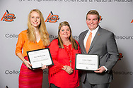 Oklahoma Soybean Board Scholarship recipient, Joshua Mapes and Liza Van der Laan.