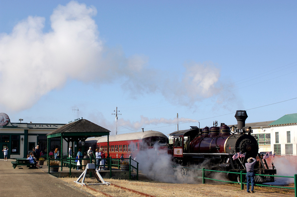 Skunk Train, California Western Railroad, Fort Bragg, California, United States of America