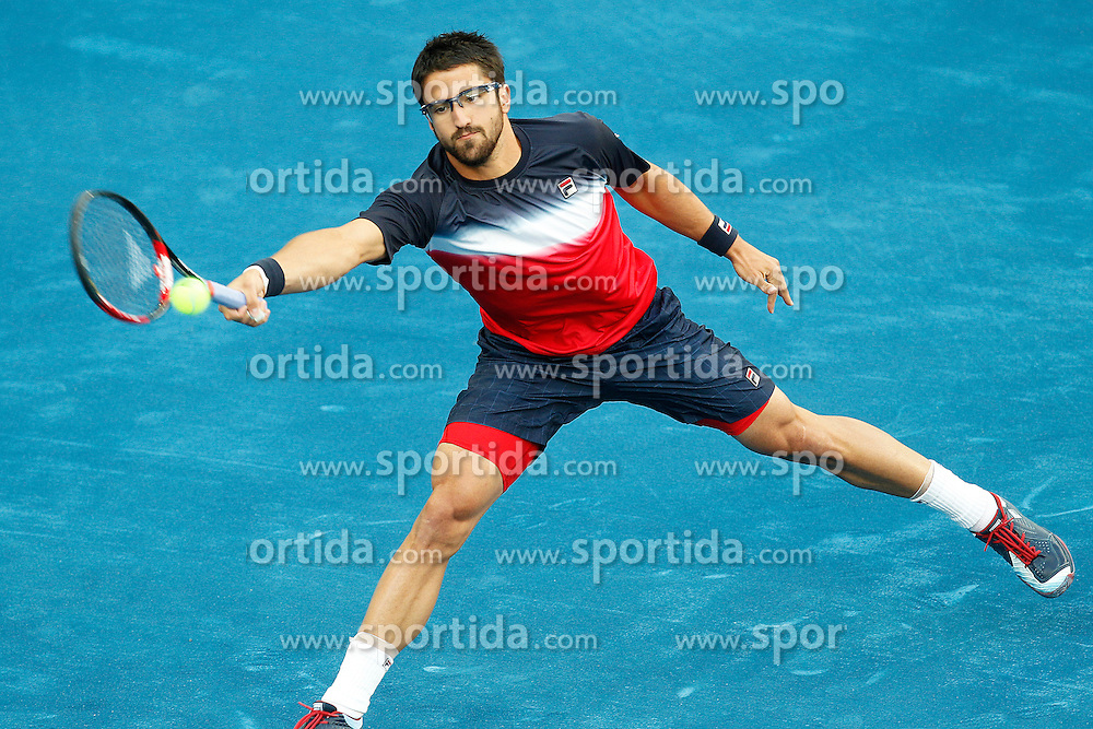 11.05.2012, Caja Magica, Madrid, ESP, ATP World Tour, Madrid Open, im Bild Janko Tipsarevic // during Mutua Madrid Open 2012 match on may 11th 2012.Photo: Cesar Cebolla/ ALFAQUI during the ATP World Tour, Madrid Open at the Caja Magica, Madrid, Spain on 2012/05/11. EXPA Pictures © 2012, PhotoCredit: EXPA/ Alterphotos/ Cesar Cebolla..***** ATTENTION - OUT OF ESP and SUI *****